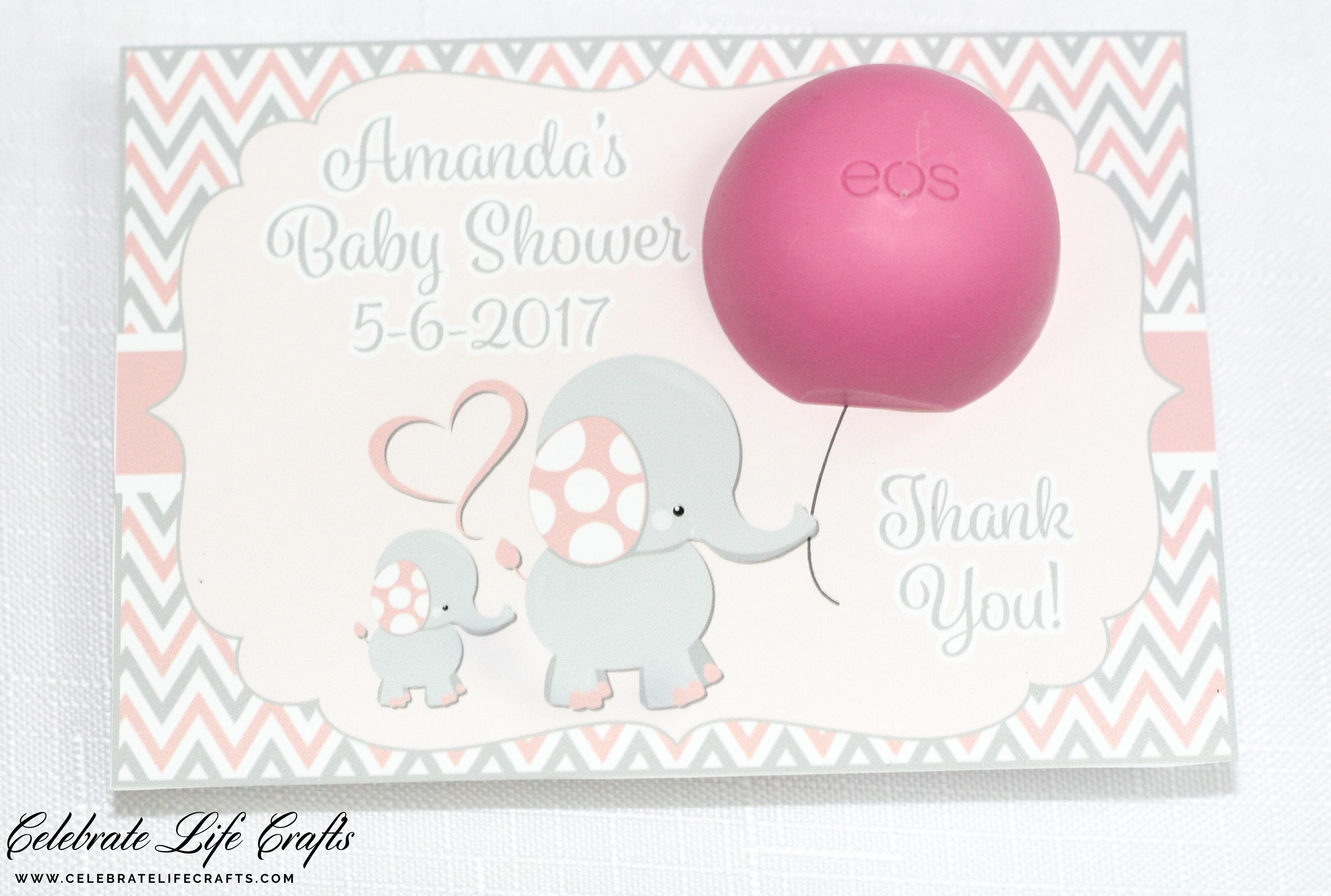 Pink Little Peanut Elephant Baby Shower Celebrate Life